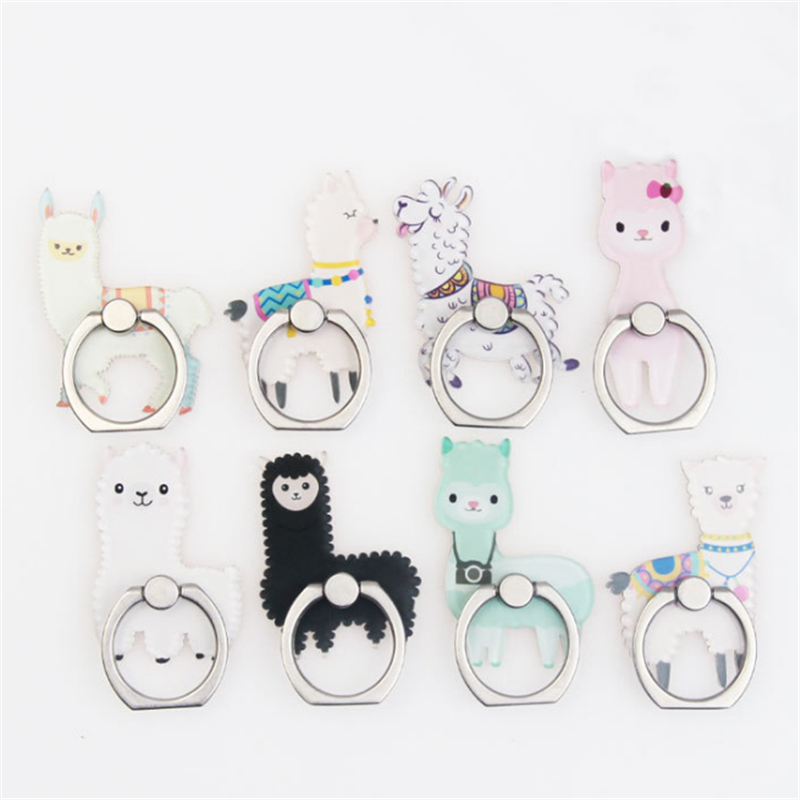 Universal Stent Mobile Phone Holder Stand Alpaca Finger Ring Magnetic For Cell Smart Phone Stand Holder For Iphone 11 XS MAX 8