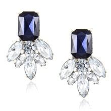 H20 Fashion Jewelry Black Blue Crystal Rhinestone Drop Earrings Red Pink Flower Dangle Earrings Women Luxury Wedding Jewelry