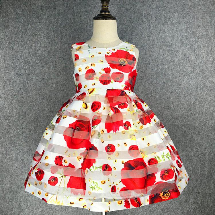 Kseniya Kids 2017 Summer Yellow Girl Dress Striped Princess Dresses For Girls Cotton Birthday Party Wedding Children 39 s Dresses in Dresses from Mother amp Kids