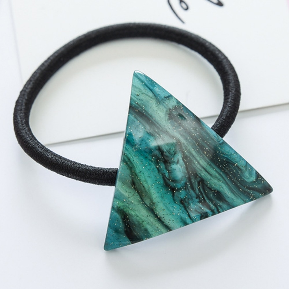 Japan And Korea New And Sweet Young Girl Heart Star Hair Rope Ladys Small And Pure Geometric Triangle Acetate Hair Accessories