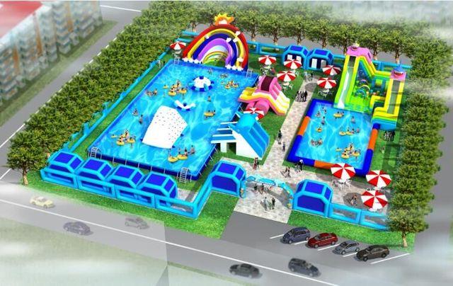 Caliente Juguetes de Agua Inflable Parque de Atracciones, el Mayor Parque Acuático Inflable