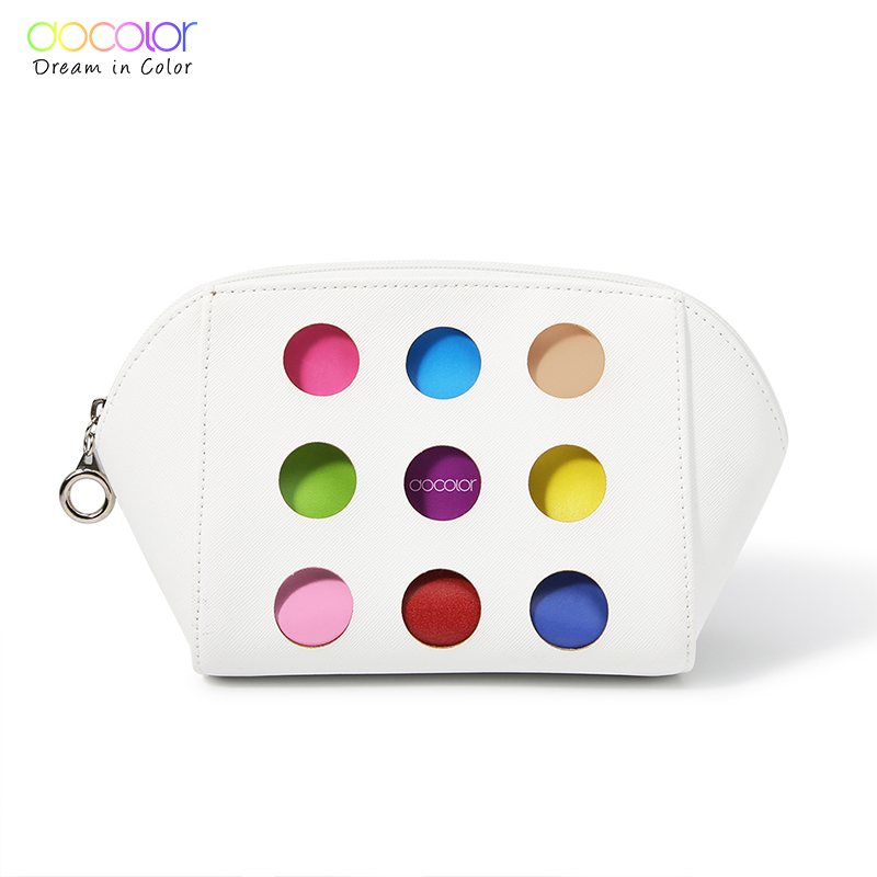 Docolor Women Cosmetic Bag High Quality Travel Cosmetic Organizer Portable Makeup Bag Fashion Cosmetic PU Bag For Beauty Case