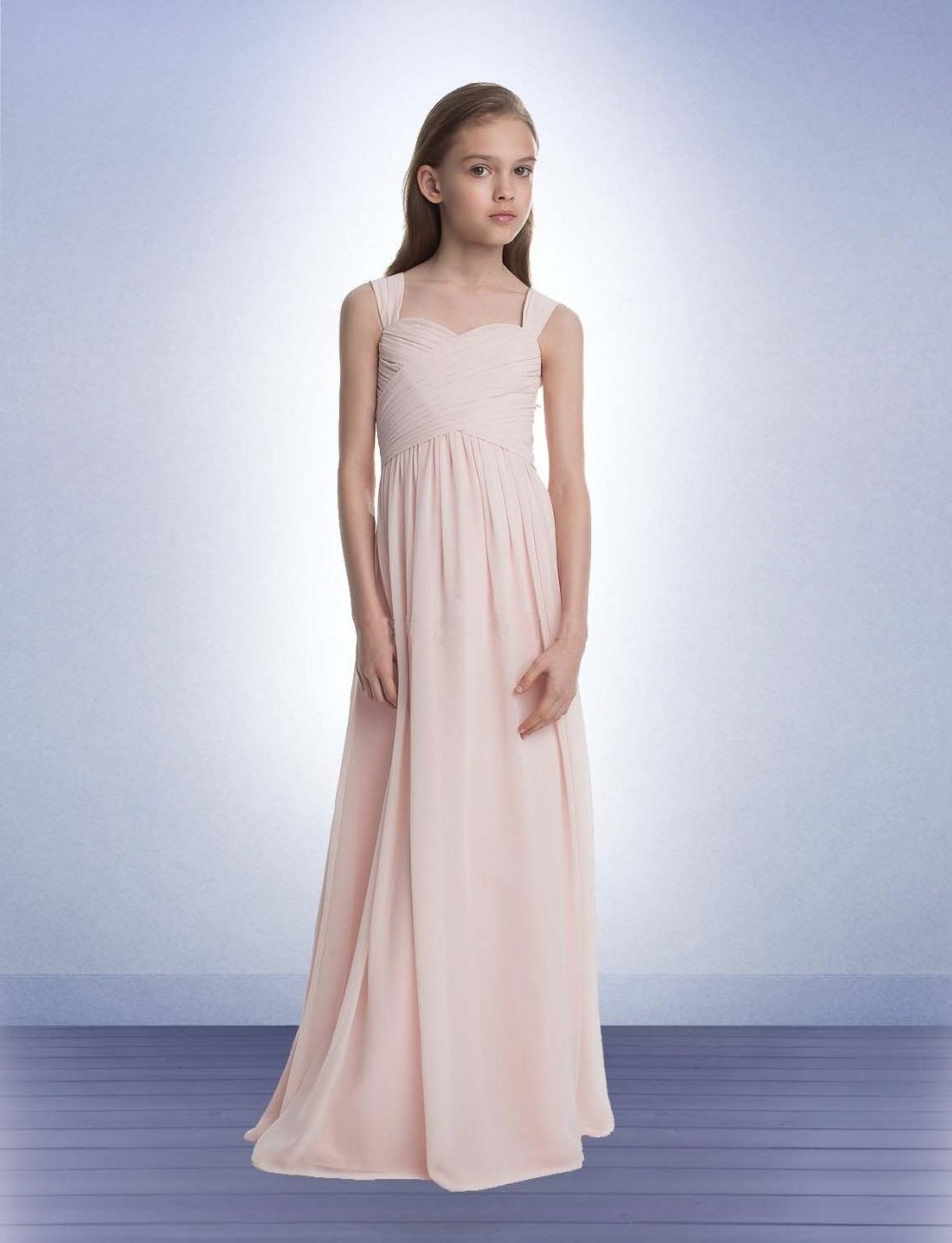 Wedding Junior Dress compare prices on junior dresses cheap online shoppingbuy low blush pink bridesmaid spaghetti straps pleats draped floor long chiffon peach wedding guest