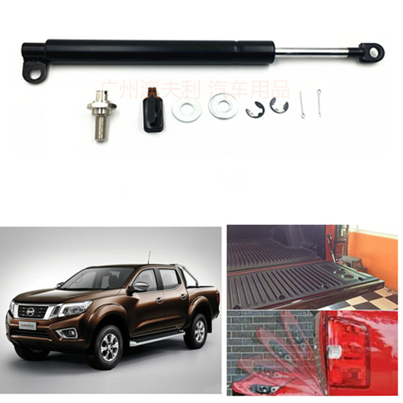For Nissan Navara Frontier D40 2005-2014 4x4 Pickup Stainless Steel Rear Tailgate Slow Down Shock Up Lift Gas Strut Accessories h tune 4x4 accessories front hood bonnet gas lift support shock strut damper for navara d40 05 15