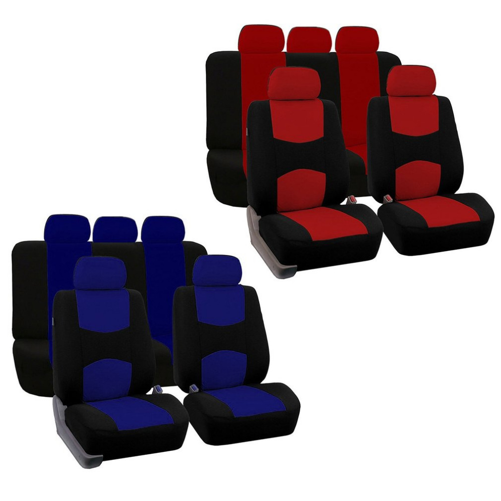 Newest Universal Polyester 5 Seats Auto Car Anti-dust Tear Resistence Breathable Seat Cushion Car Seat Protective Cover Set Hot