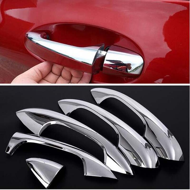 Abs chrome guarnição porta para fora alça capa acessórios do carro para mercedes benz c-class c200 c180 c300 sedan w205 2015 2016