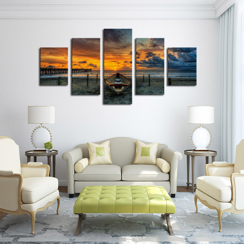 Unframed 5 Pcs Giant HD Dwelling ornament With ShipTop-rated Canvas Print Portray for Residing Room Wall Artwork Image Present JHT-007 dwelling decor, 5 pcs, lounge wall decor,Low-cost dwelling decor,Excessive...