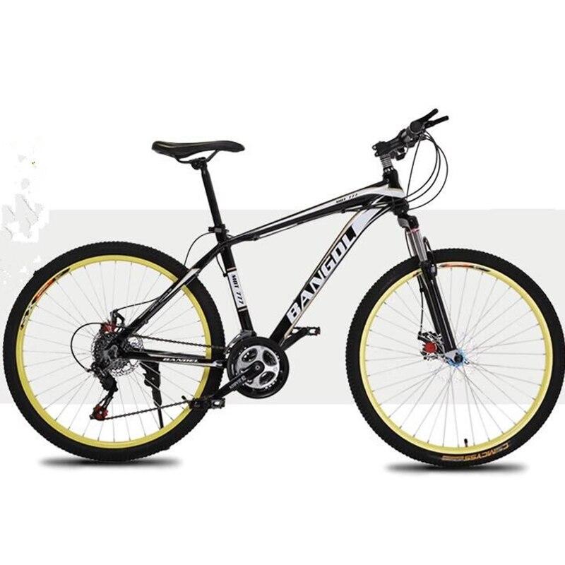 Double disque vélo haute teneur en carbone matériaux en acier 26 pouces 21 vitesses Double frein à disque