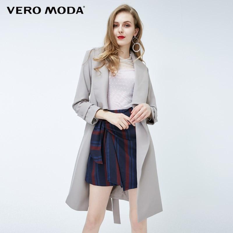 Vero Moda new style simple and elegant design long   trench   coat |318121525