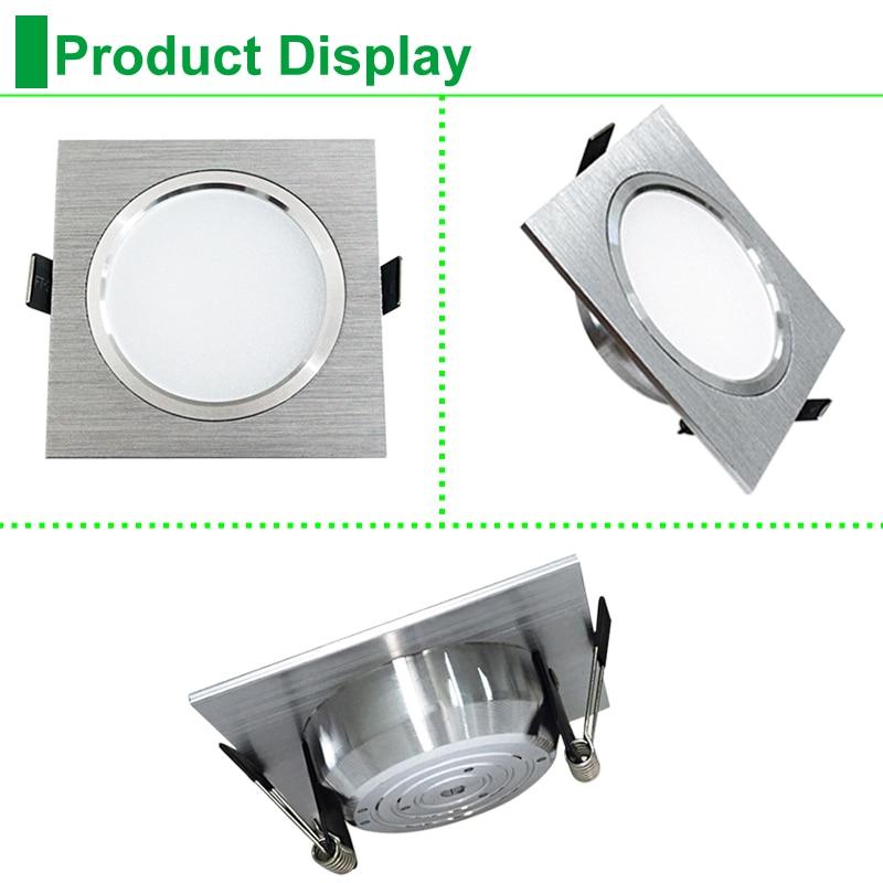 Vierkante downlights LED SMD 5730 3 W 5 W 7 W Plafondlampen 110 V 220 - Binnenverlichting - Foto 3