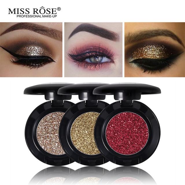 La srta. Rose diamantes brillo sombra de ojos 24 colores solo paleta iluminador maquillaje brillo de Metal sombra de ojos brillo pigmento cosméticos