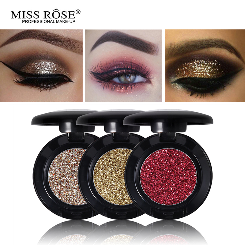 Miss Rose Diamond Glitter Eyeshadow 24 Colors Single Palette Illuminator Makeup Shimmer Metal Eye Shadow Shine Pigment Cosmetics-in Eye Shadow from Beauty & Health on Aliexpress.com | Alibaba Group