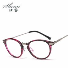 TR90 Titanium Optical Glasses Frame Women 2018 New Round Myopia Eye Glass Prescription Eyeglasses Advanced Decoration Eyewear