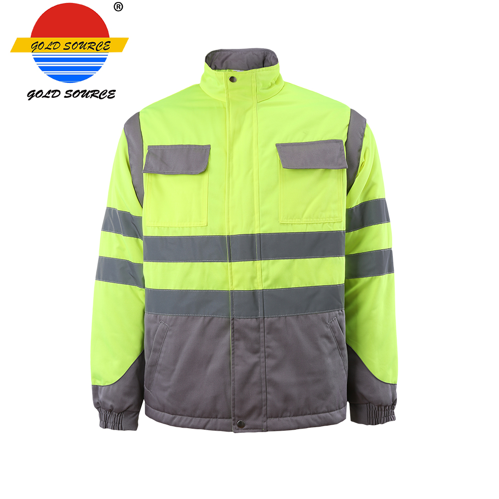 Security & Protection Urban Supply Hi Vis Fire Retardant Orange Welding Coat Quilted Safety Mens Winter Jacket Safety Clothing