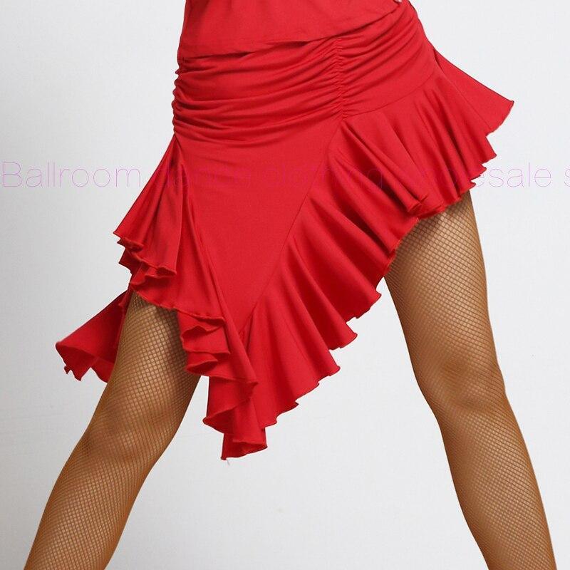 Nuevo! Seda de la leche falda de baile latino sexy irregular falda ...