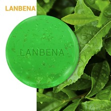 LANBENA Tea Tree Essential Oil 24K Gold Handmade Soap Moisturizing Facial Cleansing Acne Treatment Blackhead Remover Anti-Aging