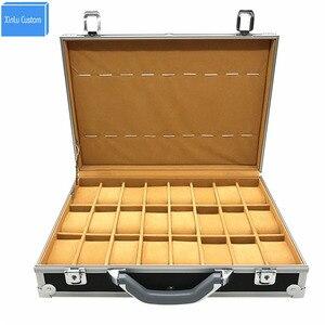 2020 na rękę zegarki walizka trumny aluminium koperta ze stopu do prezentowania, przechowywania biżuterii, zegarków pudełko zegarek organizer zegar Horrloge saat kutusu pudełko