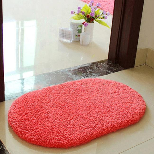 Bath Mat Bathroom Plush Velvet Slip Mats Rug Non Slip Bath