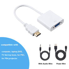 HDMI to VGA Adapter 1080P Digital to Analog Video Audio For PC Laptop Tablet Male To Famale Converter Adapter