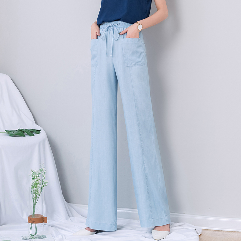 High Waist   Jeans   Woman 2019 Summer Thin Denim Crop Boyfriend   Jeans   Elastic Waist Full Length   Jeans   Plus Size 5xl Mom   Jean   Femme
