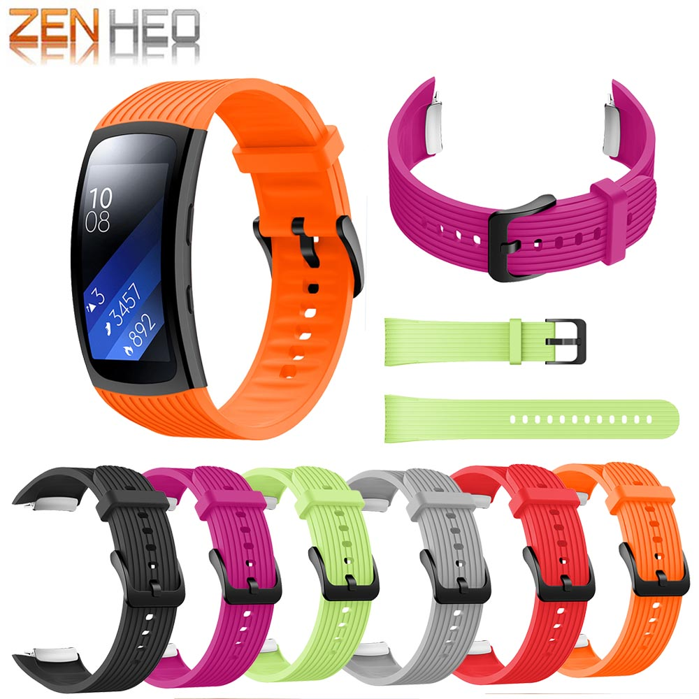 Watch Band Replacement Wristband For Samsung Gear Fit 2 Pro Band Luxury Silicone Watchband For Samsung Fit 2 SM-R360 Strap