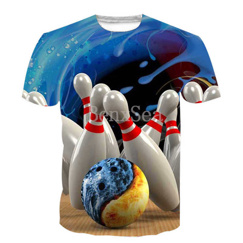 人気スポーツボウリング 3D フル印刷ファッション Tシャツ 3D プリントヒップホップスタイル Tシャツストリートカジュアル夏
