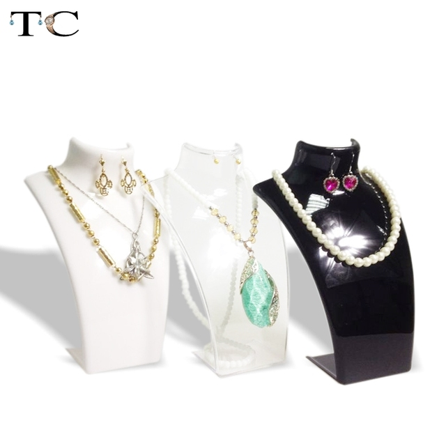 Бокс день продажи бесплатная доставка самолета ожерелье держатель стойки  портрет рамка дисплея ювелирных изделий подставка высокое 4517d950702