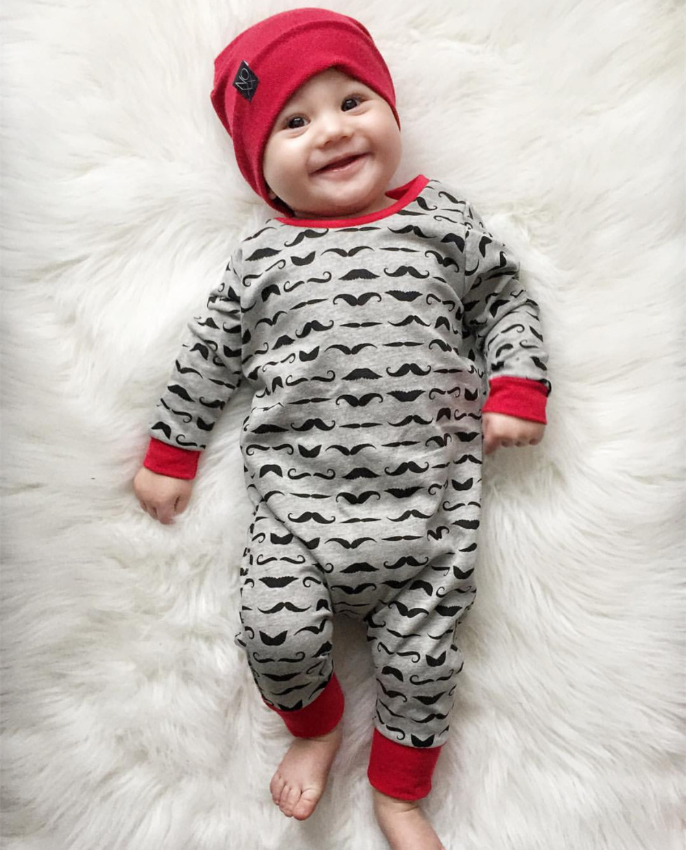 Baby-Rompers-Children-Autumn-Clothing-Newborn-Baby-Clothes-Cotton-Long-Sleeve-Mustache-Printed-Baby-Boy-Jumpsuit-1