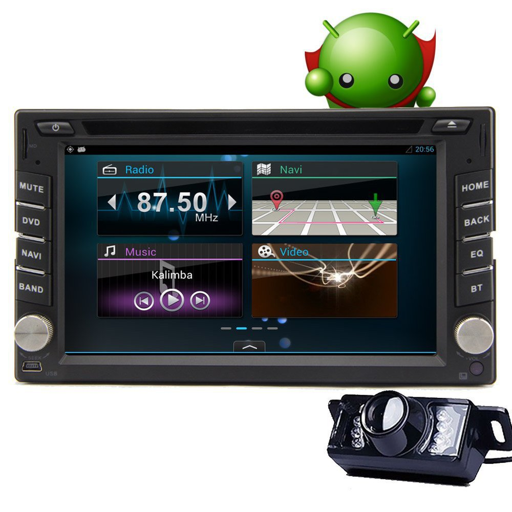 6 2 capacitive touchscreen 2 din android 4 2 car stereo radio gps dvd cd mp3 player