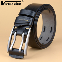 TG Hot Sale Double Pins Buckle Men Belt Genuine Leather Cinto Ceinture Top Grade Cow