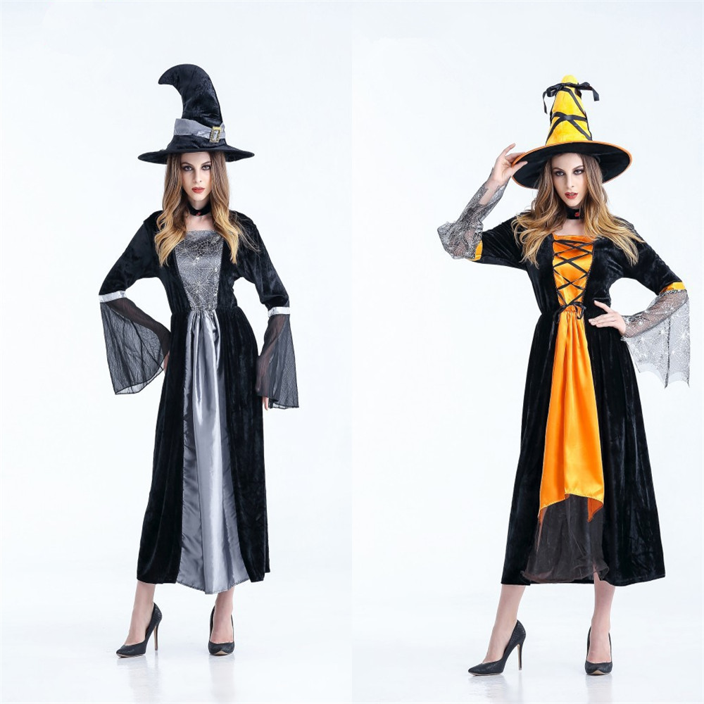 New <font><b>Halloween</b></font> Witch Costume <font><b>Sexy</b></font> Adult <font><b>Queen</b></font> <font><b>Queen</b></font> Rave Party Costume Ball Cosplay Vampire image
