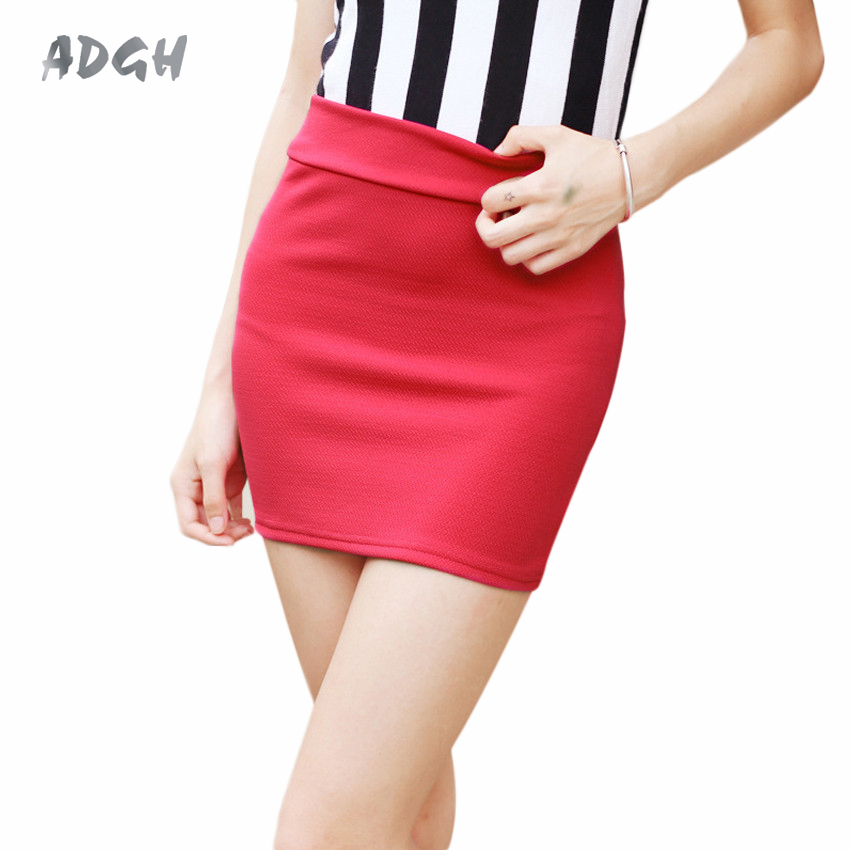 Wholesale Price Pencil Skirt Summer 2018 Korean Japanese Style High Waist Skirt Bodycon Short Skirts Womens