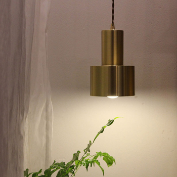 Pure Copper Small Pendant Light Bar Restaurant Vintage Pendant Lamp Creative Personality Living Room All Copper Pendant Lights