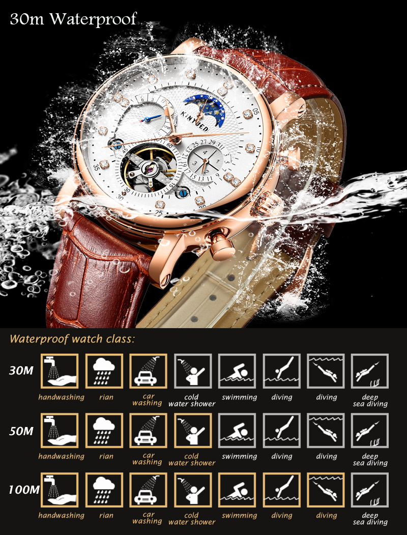 HTB12AX2XyLrK1Rjy1zdq6ynnpXaE KINYUED Moon Phase Top Brand Mens Mechanical Watches Automatic Tourbillon Skeleton Watch Men Calendar Relogio Masculino dropship