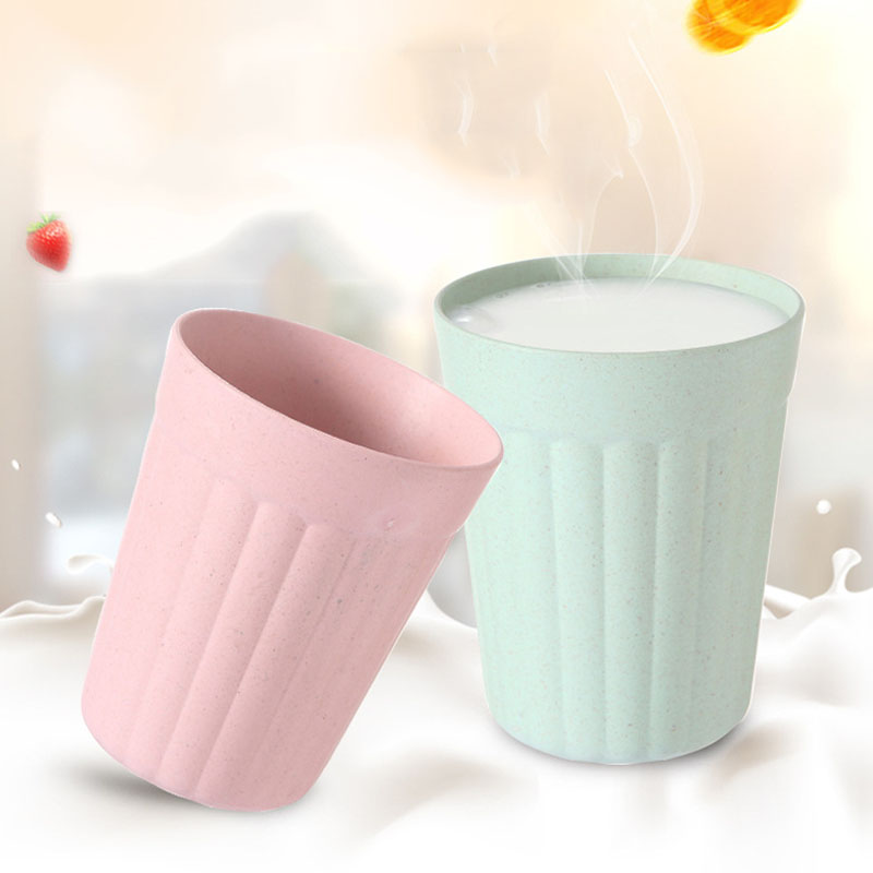 Bamboo Fiber Environmental Water Children Breakfast Plastic Eco-Friendly Wheat Straw Coffee Tea Milk Drink Cup Toothbrush