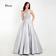 Finove Chic Homecoming Dress Long 2019 Reflective Satin