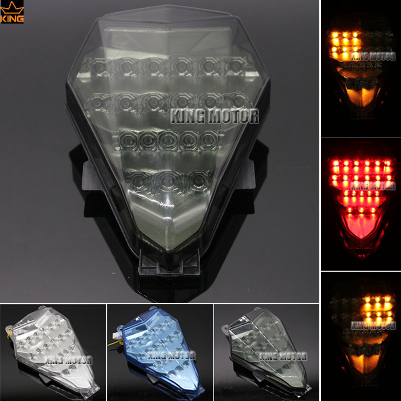 For YAMAHA YZF R6 YZF-R6 2008-2014 Motorcycle Accessories Integrated LED Tail Light Turn signal Blinker Smoke for yamaha fz 09 mt 09 fj 09 mt09 tracer 2014 2016 motorcycle integrated led tail light brake turn signal blinker lamp smoke