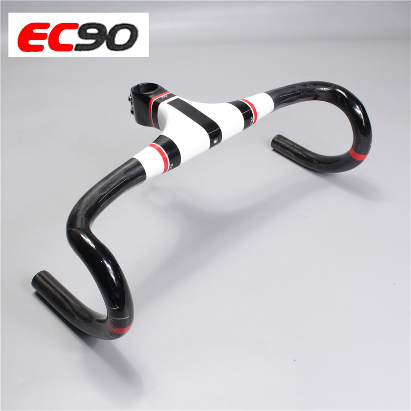EC90 Integrated Handlebar XXX Carbon Road Bicycle Bike Handle With Stem Drop Bar 400/420/440mm ec90 carbon fiber rest handlebar tt handlebar ultralight road bike bicycle aero handle bar 400 420 440mm