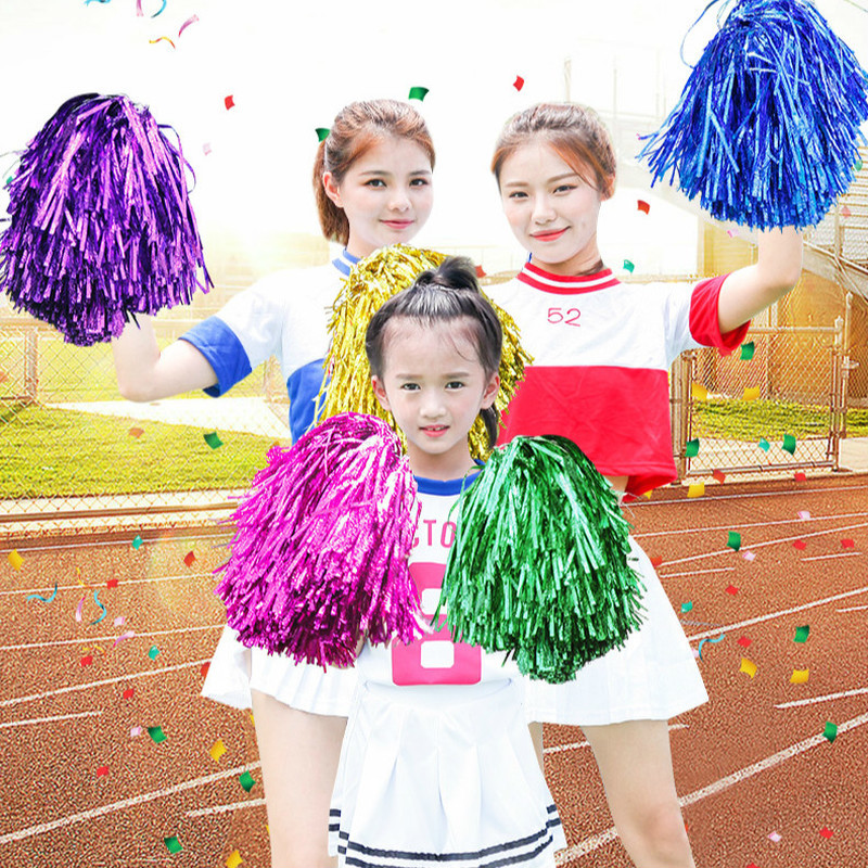 Kids Cheerleading Pompon Boys Cheerleader Pom Poms Girls Dancing Cheerleading Pompoms Students Children Adult Football Basketbal