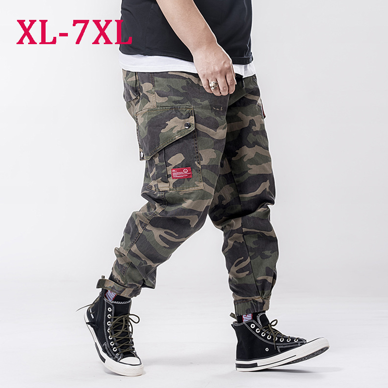 Men's Military Camouflage Cargo Pants New Winter Breathable Cotton Trousers Joggers Army Pockets Casual Pants Male Plus Size 7XL(China)