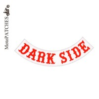 MotoPATCHES DARK SIDE Motorcycle Jacket Patches For Clothes Embroidered Iron On Patches
