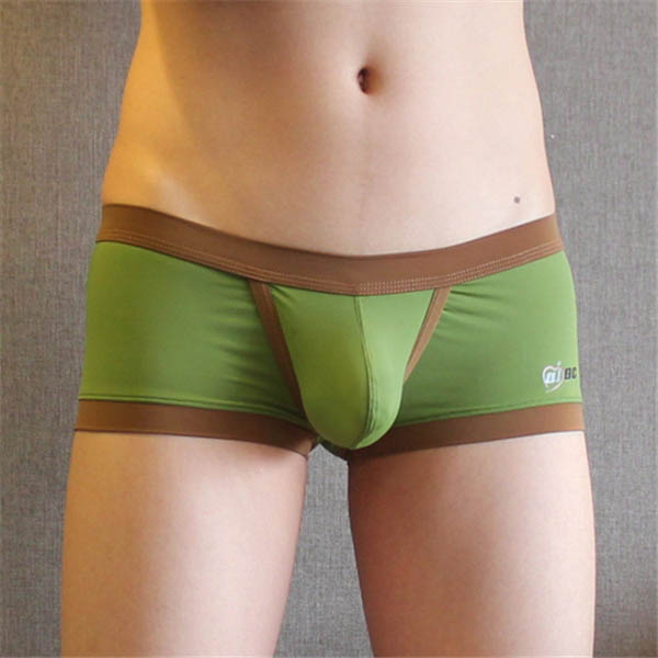 Fashion Mens Underwear Boxers Shorts Sexy Low Waist U convex Panties Solid Color 2018 Mens Shorts Underpants in Boxers from Underwear Sleepwears