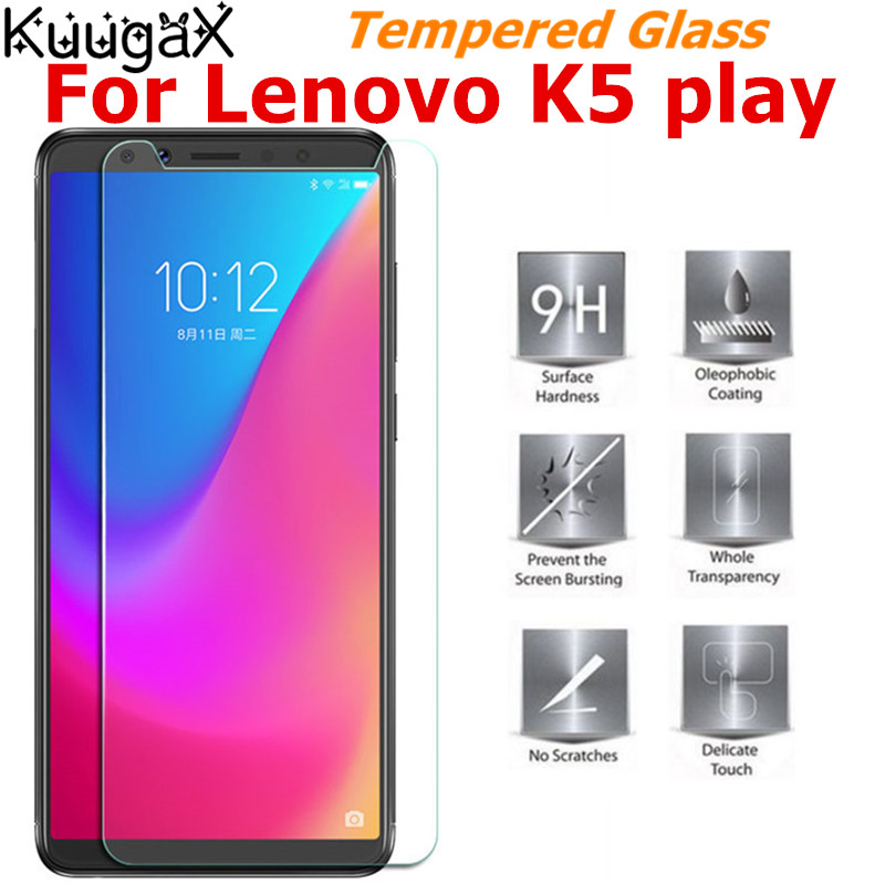 Tempered Glass For Lenovo K5 K 5 K5play Screen Protector On Smartphone K5 Play 9H Toughened Protective On Film