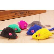 Nowy 5 sztuk kot zabawki pluszowe Mini zabawne myszy zabawki dla kotów dziecko kotek zwierząt gry kot domowy produkty biały/czarny/szary mysz