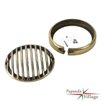 Papanda Motorbike 5.75 Brass Headlight Grill Heaslamp Cover Protector for Harley Sportster XL833 XL1200 2004 2014 Touring