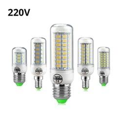 Полная новая светодиодная лампа E27 E14 7W 12W 15W 18W 20W 25W SMD 5730 кукурузная Лампа 220V люстра светодиоды свеча свет Прожектор
