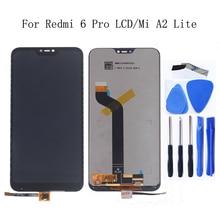 """ЖК дисплей 5,84 """"для Xiaomi Mi A2 Lite с сенсорным экраном и дигитайзером в сборе для Xiaomi Redmi 6 Pro с заменой рамки"""