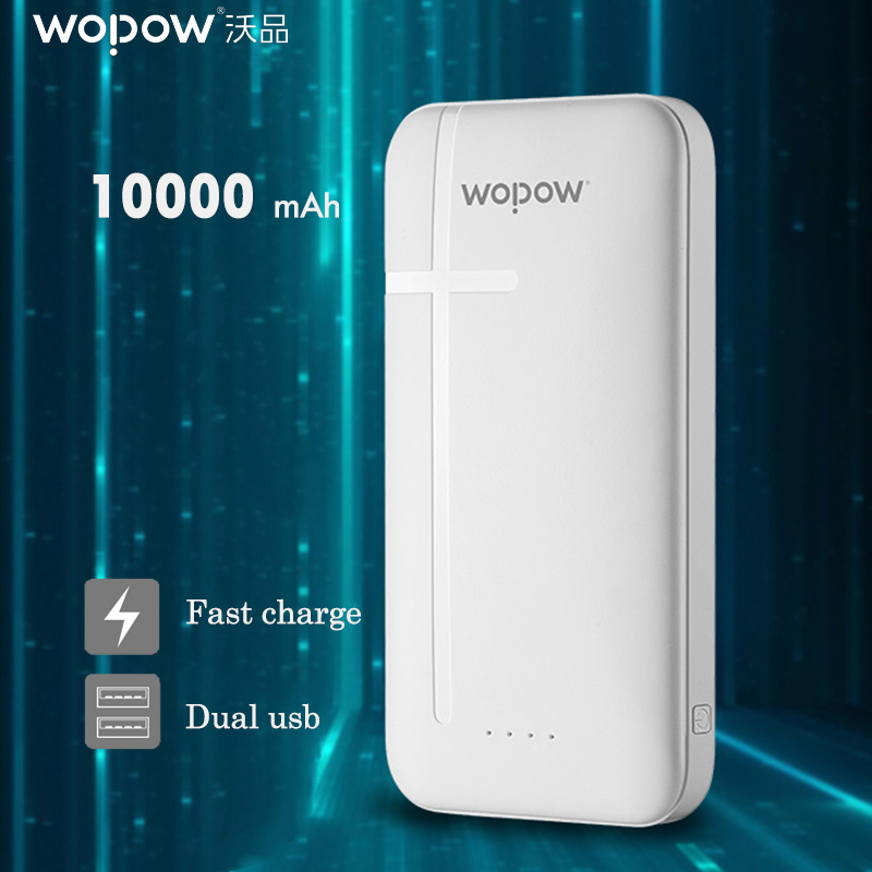 WOPOW powe bank 10000mah Portable quick Charge Pwerbank for xiaomi dual USB Port External Battery For iPhone 6 6s 7