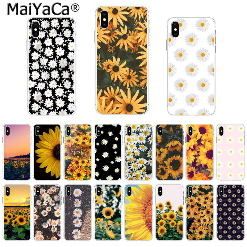 MaiYaCa Newest The Fashion phone Case Yellow flower Small daisy sunflower for iPhone 8 7 6 6S Plus X 5 5S SE 44S XS XR XS max
