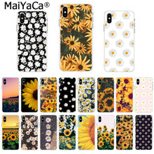 Maiyaca a caixa do telefone moda flor amarela pequena margarida girassol para iphone 11 pro 8 7 66 s plus x 5S se 44 s xs xr xs max(China)